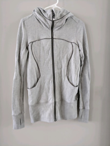 Lululemon Live Simply Jacket II  Heathered Medium Grey  6 EUC