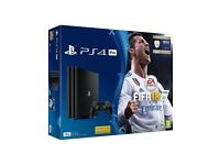 PS4 PRO 1Tb Console FIFA 18 plus 12mth Psn & Extra controller, Brand New Sealed Boxed