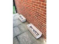 2 x Concrete Planters
