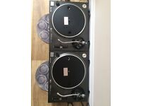 technics 1210 mk 2 turntables