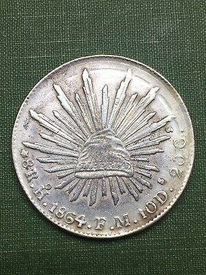 8 Reales Hermosillo 1864 FM For Study Only