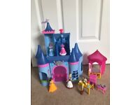 Cinderella Magic Clip fairy castle doll house with Bella outhouse