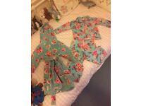 Monsoon Girls Pyjamas & Dressing Gown (Age 3-4)
