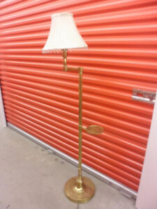 RETRO Brass Floor Lamp with shade and drink holder