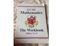GCSE maths workbook in excellent condition CGP -for students sitting higher exam