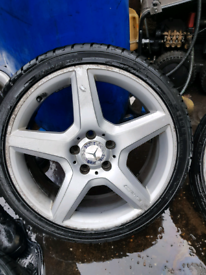 AMG alloy wheels spare tyre and rim Mercedes Benz c class