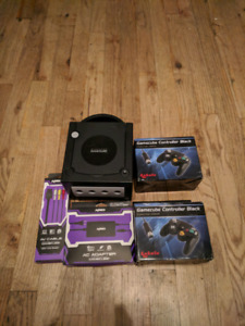 Nintendo Gamecube with two new controllers