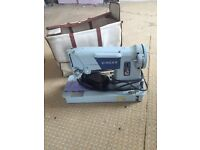 Vintage singer electric sewing machine with case/cover