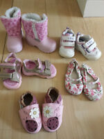 Lot of size 3 (6-12) mths baby girl shoes