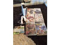 Nintendo console Wii with games