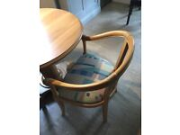4 Fabulous Limed Oak Dining Chairs