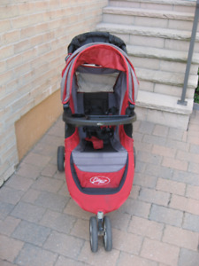Baby Jogger City Mini Quick Fold Single Stroller, Red & Black
