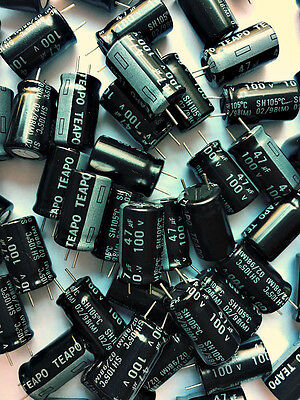 47uf 47 Uf 100v Radial Electrolytic Capacitors Lot Of 200