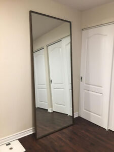 Large mirror with wood