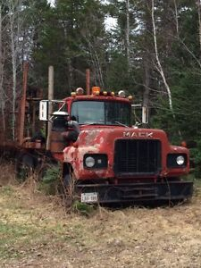 Mack truck and trailer