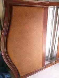Wicker/Wood Bed Headboard Kitchener / Waterloo Kitchener Area image 2