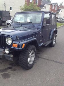 2002 Jeep TJ Automatique (RARE)