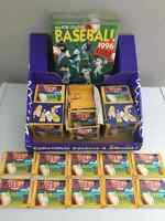 1996 Baseball 100 Sealed Packs of Stickers + 10 Sticker Albums