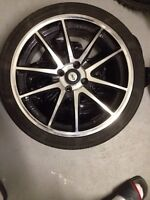 "17"" 4x100 dai rims with tires"