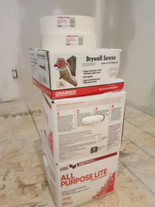 drywall compound and screws