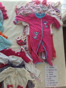 Huge lot of 6-12 months baby girl's clothes