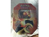 Pokemon trading card game in collectors tin