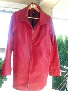 HIgh quality lined leather coat