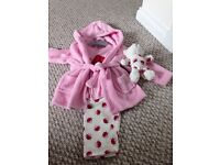 Brand new pj set with robe and matching teddy