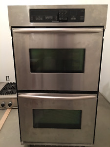"""30"""" KITCHEN AID SUPERBA BUILT-IN DOUBLE ELECTRIC CONVECTION OVEN"""