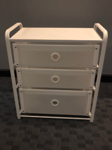 Short White IKEA Plastic Chest of Drawers