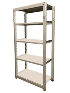 Boltless Steel Shelving - 5 Metal Shelves-Warehouse/Garage Racks