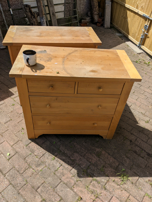 Two wooden drawers, free to collector
