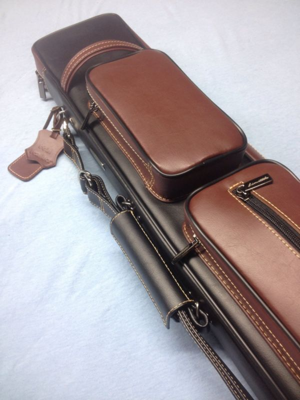 Instroke Leather Pool Cue Case 4 Butts 8 Shafts 4x8 Butterfly Style