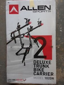 Brand new Allen Sports Deluxe Trunk Mount 2-Bike Carrier.