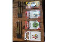 2 sets of darts and 4 unopened packs of Flights