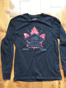 Black long sleeve Roots shirt size M