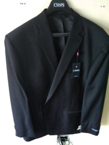 Mens suit jacket 56L pant 46 Navy