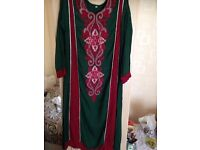 salwaar kameez maxi indian pakistani long sleeved dress joblot bundle kaftan mehndi wedding evening