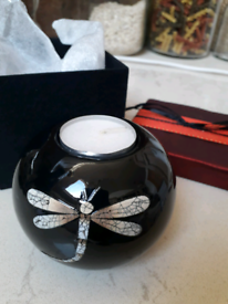 Dragonfly silkwood lacquer candle