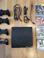 PS3 w 4 controllers, 5 Games