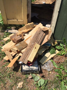 free wood for building and fire wood- must take all