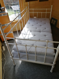 IKEA White Wrought Iron Day Bed - Immaculate