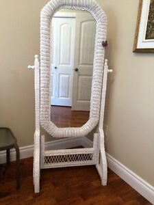 Wicker Wardrobe  Mirror