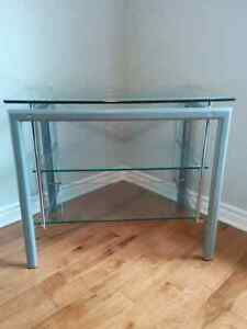 Glass TV stand/ or shelving unit
