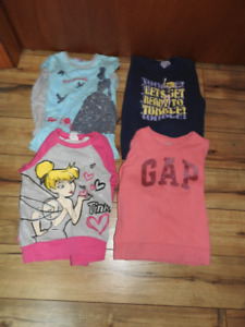 4 long sleeved girls tops size 5