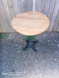 Lovely cast iron bar, cafe, coffee, patio mancave table