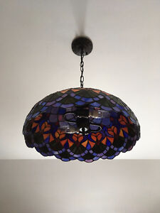 Tiffany stained glass hanging light for sale!