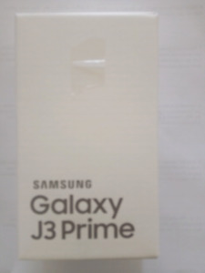 Cell phone: SAMSUNG Galaxy J3 Prime (brand new)