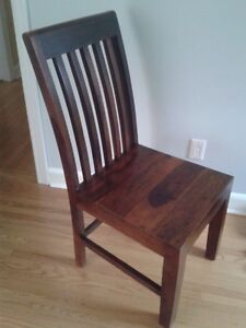 Set of 4 Solid Rosewood Chairs
