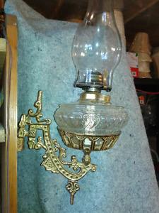 Brass oil wall lamp